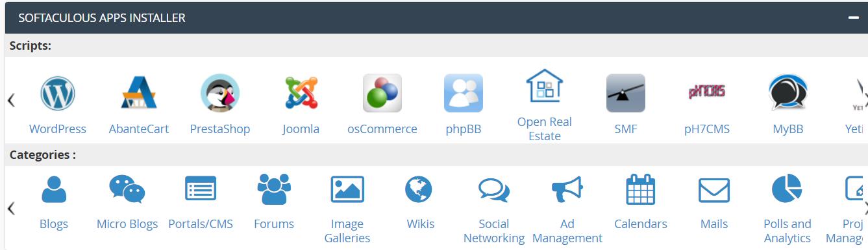 Clic WordPress en Softaculous Apps Installer