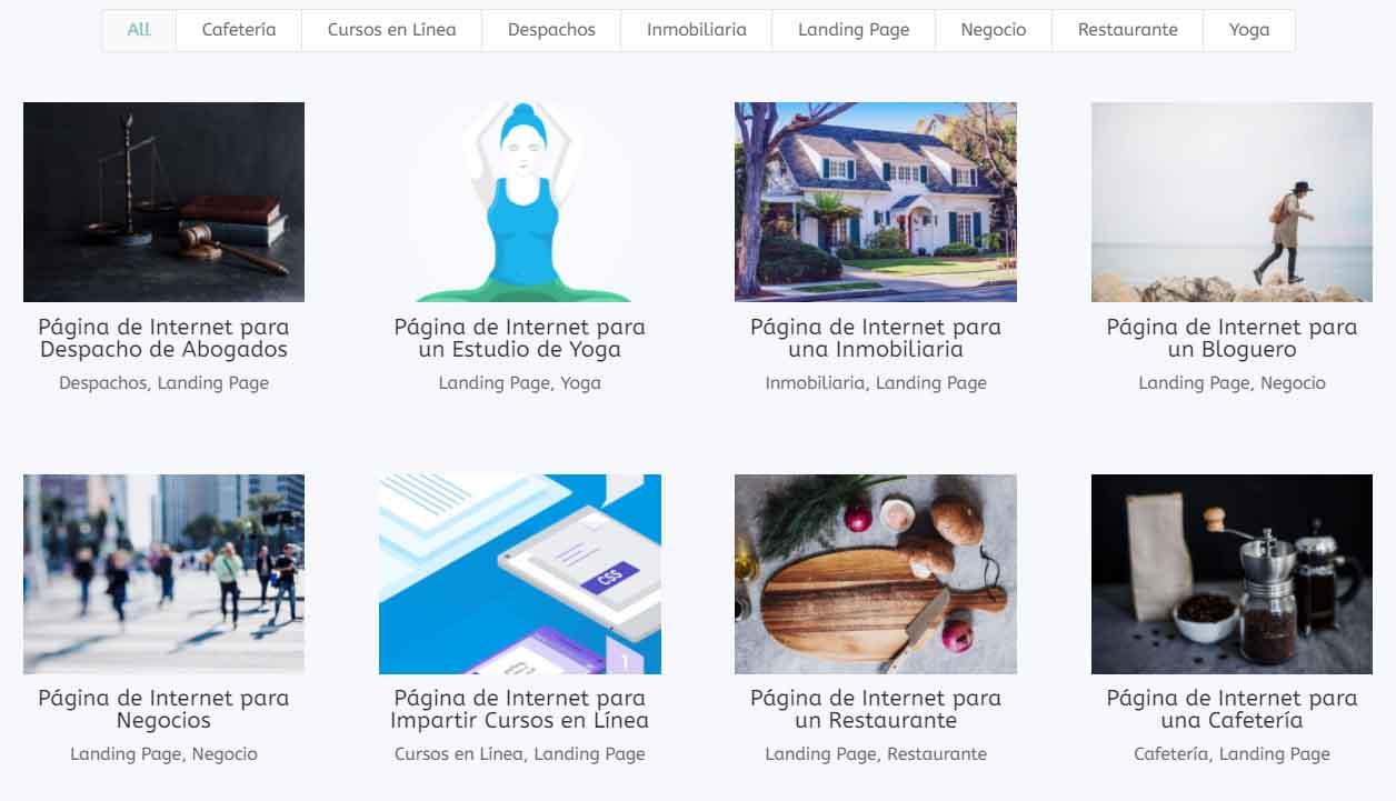 Demos Ejemplos de Landing Pages