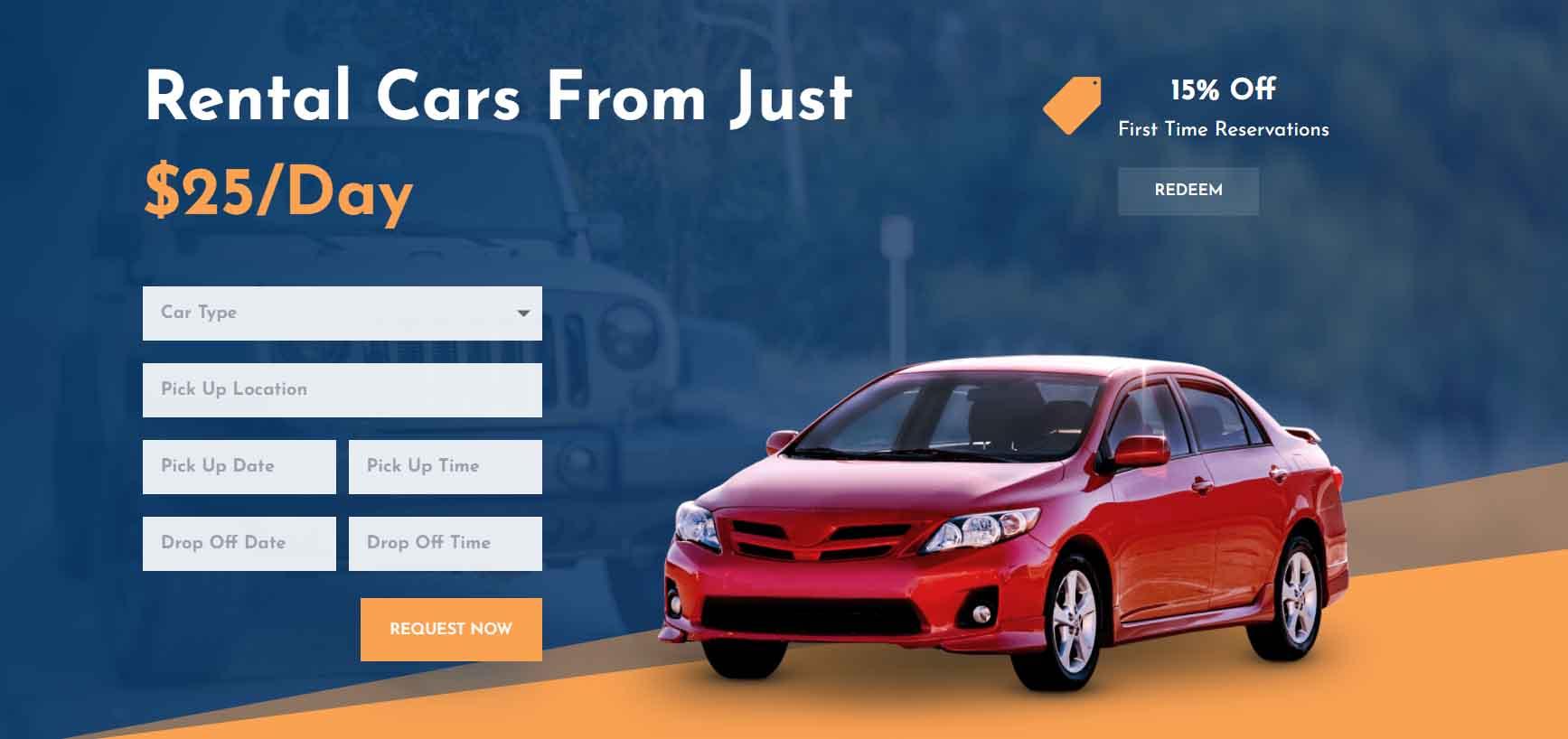 Crear Página Web para Renta de Autos
