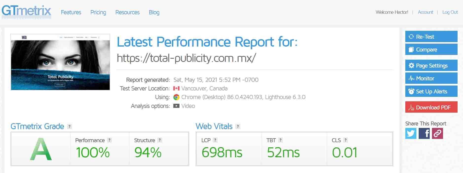 Hosting Web y Optimización